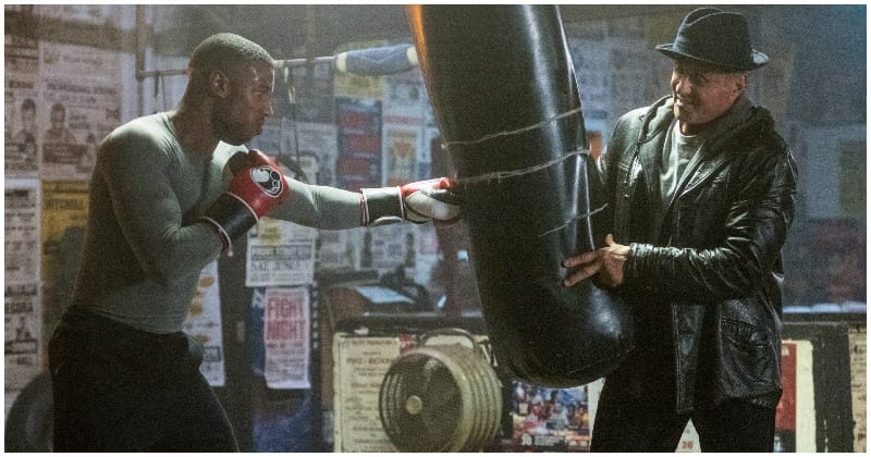 A still of Adonis training with Rocky