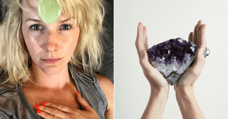 Victoria Beckham's crystal healer, Emma Lucy Knowles, suggests women should carry rocks in their bras to bring love and confidence