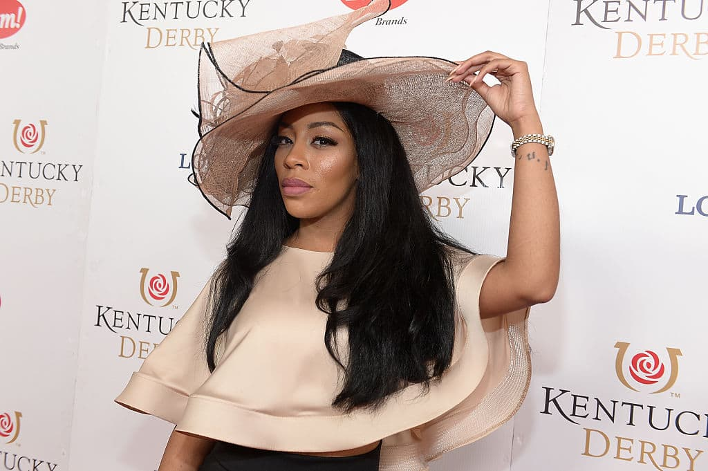 K. Michelle attends the 142nd Kentucky Derby at Churchill Downs on May 07, 2016 in Louisville, Kentucky. (Photo by Gustavo Caballero/Getty Images for Churchill Downs)