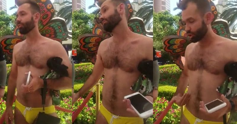 79f254f638 Man alleges he was kicked out of swimming pool in Las Vegas because his bathing  suit was 'too gay'