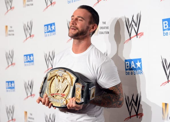 CM Punk attends the WWE SummerSlam VIP Kick-Off Party at Beverly Hills Hotel on August 16, 2012 in Beverly Hills, California. (Photo by Jason Merritt/Getty Images For WWE)