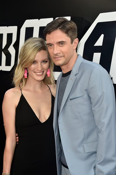 Topher Grace and Ashley Hinshaw attend the Premiere Of Focus Features' 'BlacKkKlansman' at Samuel Goldwyn Theater on August 8, 2018 in Beverly Hills, California. (Photo by Frazer Harrison/Getty Images)