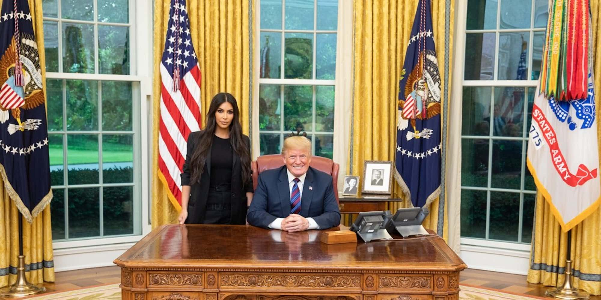 The time when Kim Kardashian met President Donald Trump to talk about prison reform and sentencing (Source: Donald Trump, Twitter)