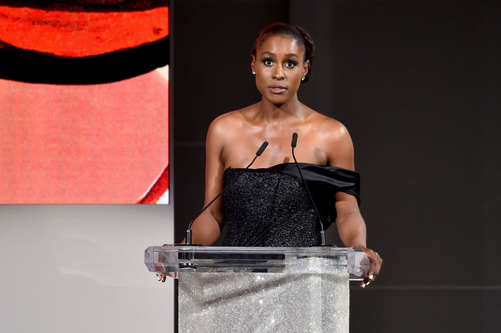 Issa Rae speaks onstage during the 2018 CFDA Fashion Awards at Brooklyn Museum on June 4, 2018 in New York City. (Photo by Theo Wargo/Getty Images)
