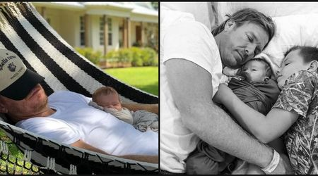 Chip Gaines cuddles son Crew as the two soak up the sun in adorable new photo