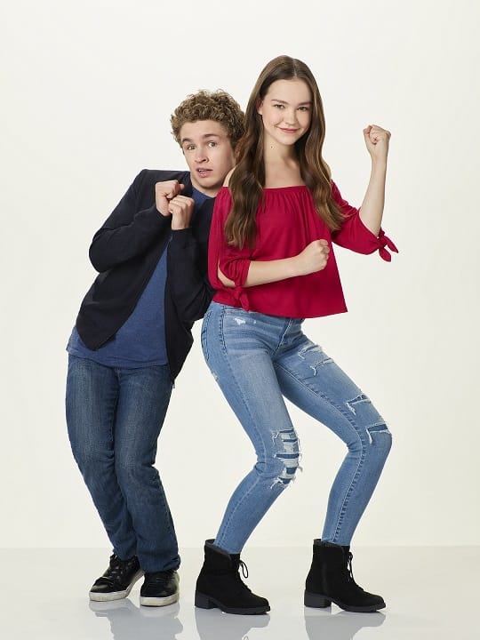Sean Giambrone and Sadie Stanley (Disney Channel)