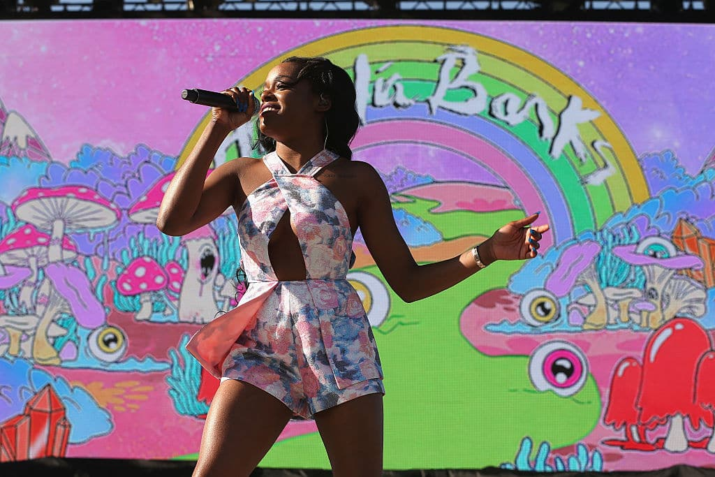 Rapper Azealia Banks performs onstage during day 1 of the 2015 Coachella Valley Music And Arts Festival (Weekend 2) at The Empire Polo Club on April 17, 2015 in Indio, California. (Photo by Karl Walter/Getty Images for Coachella)