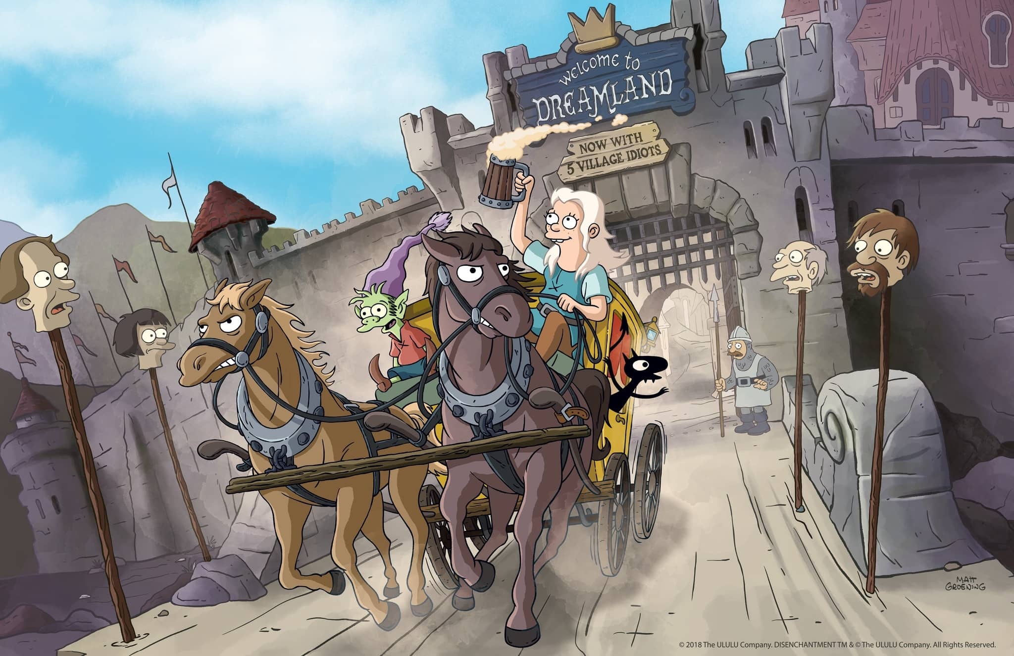 Princess Bean escaping with Elfo and Luci. Source: Netflix