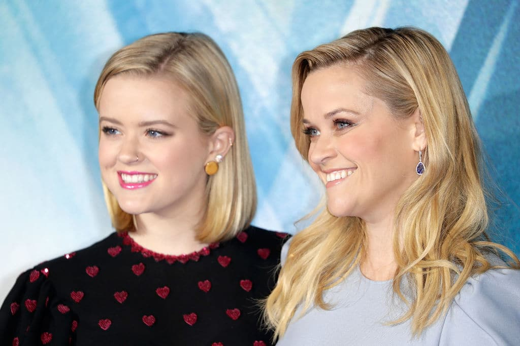 Reese Witherspoon (R) and Ava Phillippe attend the European Premiere of 'A Wrinkle In Time' at BFI IMAX on March 13, 2018 in London, England. (Photo by John Phillips/John Phillips/Getty Images)