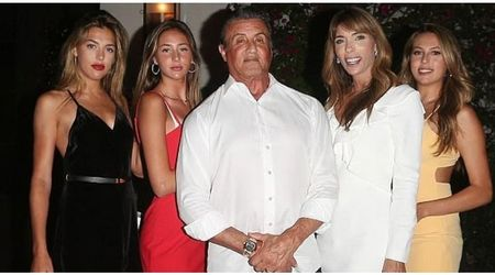 Sylvester Stallone celebrates wife gorgeous Jennifer Flavin's birthday with glamorous daughters in tow