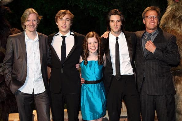 Director Andrew Adamson, actors William Moseley, Georgie Henley, Ben Barnes and producer Mark Johnson attend 'The Chronicles of Narnia: Prince Caspian' Japan Premiere at Roppongi Hills Arena on May 20, 2008 in Tokyo, Japan. The film will open on May 21 in Japan. (Photo by Junko Kimura/Getty Images)