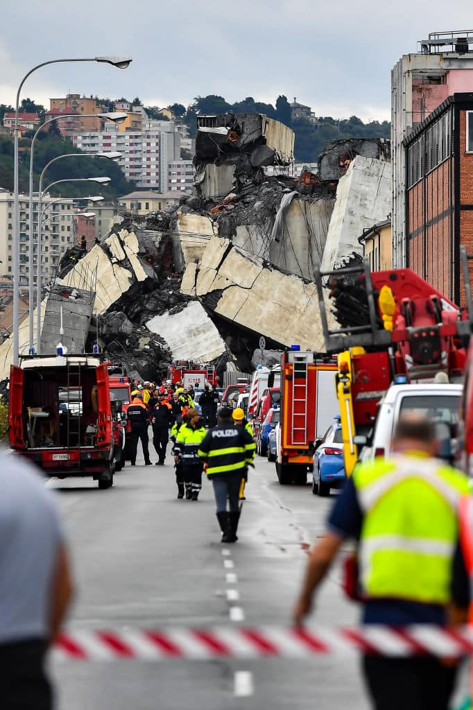 The tragedy has focused anger on the structural problems that have dogged the decades-old Morandi bridge (Getty Images)