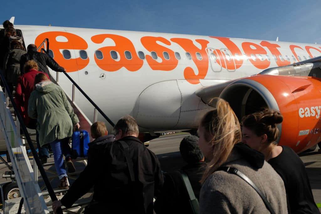 Smith was forced off an EasyJet flight at gunpoint accused of being 'violent and aggressive' in a row over leg room. (Photo by Sean Gallup/Getty Images)