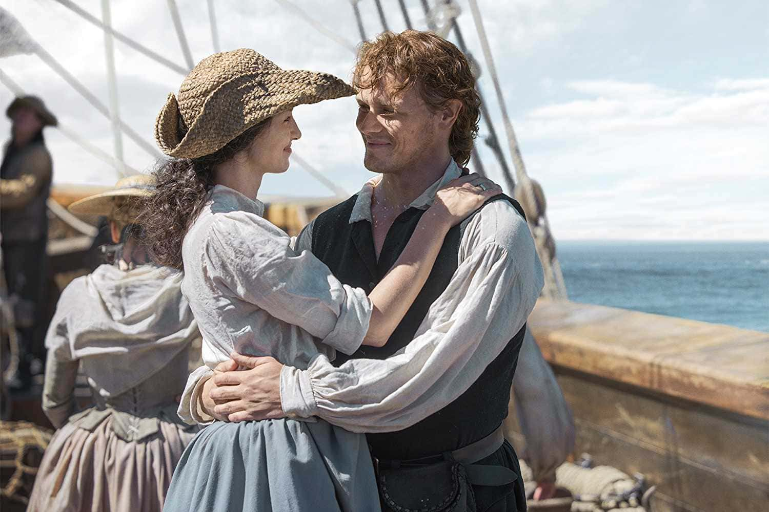 Season 3 saw Jamie and Claire shipwrecked in Georgia (Source: IMDb)