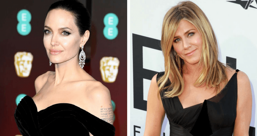 Angelina Jolie (L) ranked at second on the Forbes' list of highest paid actresses, 2018, while Jennifer Aniston came in third. Source: Getty images.