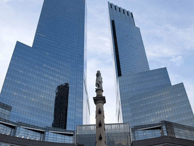 Time Warner Center in the middle of Columbus Circle. Photo by (Ben Hider/Getty Images)