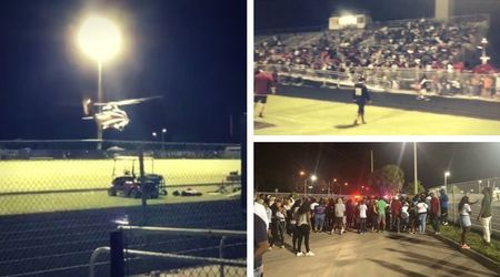 High school football game ends in carnage after fight sees two people shot
