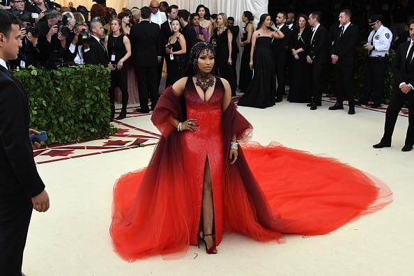 Recording artist Nicki Minaj attends the Heavenly Bodies: Fashion & The Catholic Imagination Costume Institute Gala at The Metropolitan Museum of Art on May 7, 2018 in New York City. (Getty Images)