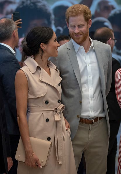 Prince Harry, Duke of Sussex and Meghan, Duchess of Sussex visit the Nelson Mandela Centenary Exhibition at Southbank Centre's Queen Elizabeth Hall on July 17, 2018 in London (Photo by Arthur Edwards - WPA Pool/Getty Images)