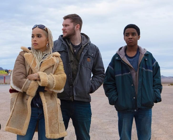 Zoe Kravitz, Jack Reynor and Myles Truitt in 'Kin'