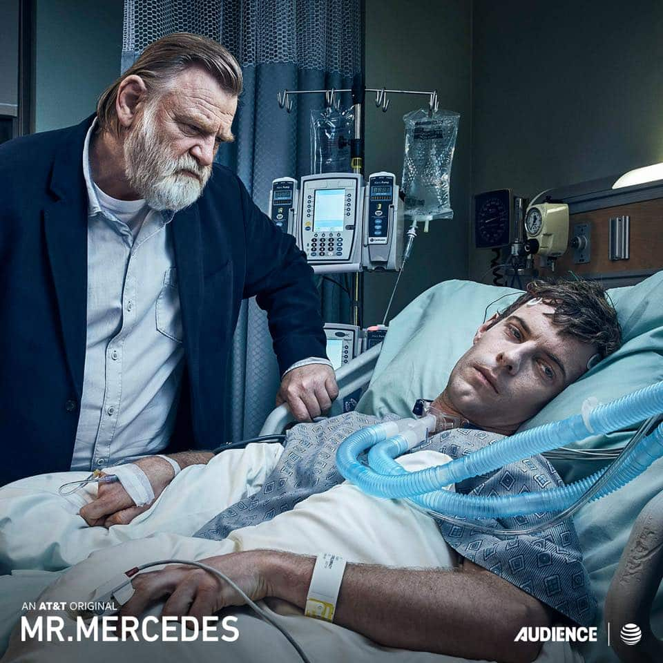 Brendan Gleeson and Harry Treadaway return as Bill Hodges and Brady Hartsfield in season 2 of 'Mr. Mercedes' (Photo Credit: facebook / Mr. Mercedes)