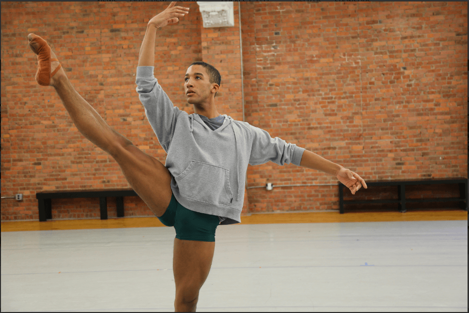 Soloist with the Houston Ballet, Harper Watters, can be seen in a still from Danseur.