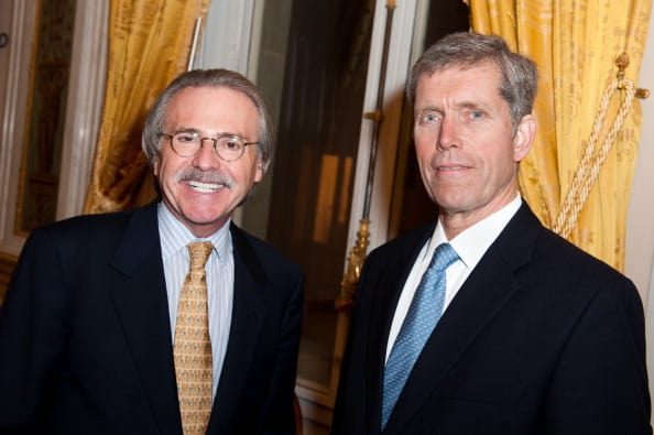 Pecker (left) has been granted immunity (Source: Francois Durand/Getty Images)