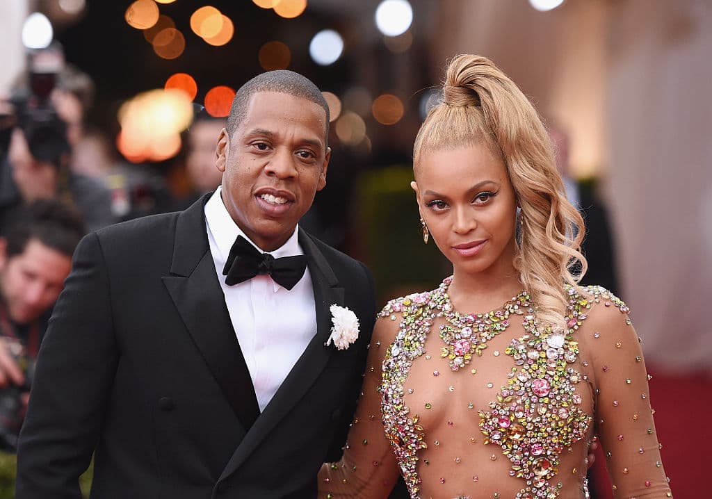 Jay Z (L) and Beyonce attend the 'China: Through The Looking Glass' Costume Institute Benefit Gala at the Metropolitan Museum of Art on May 4, 2015, in New York City. (Photo by Mike Coppola/Getty Images)
