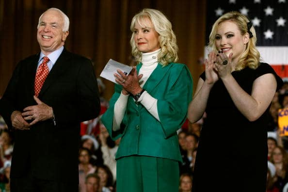 John McCain with his wife Cindy McCain and daughter Meghan McCain (Getty Images)