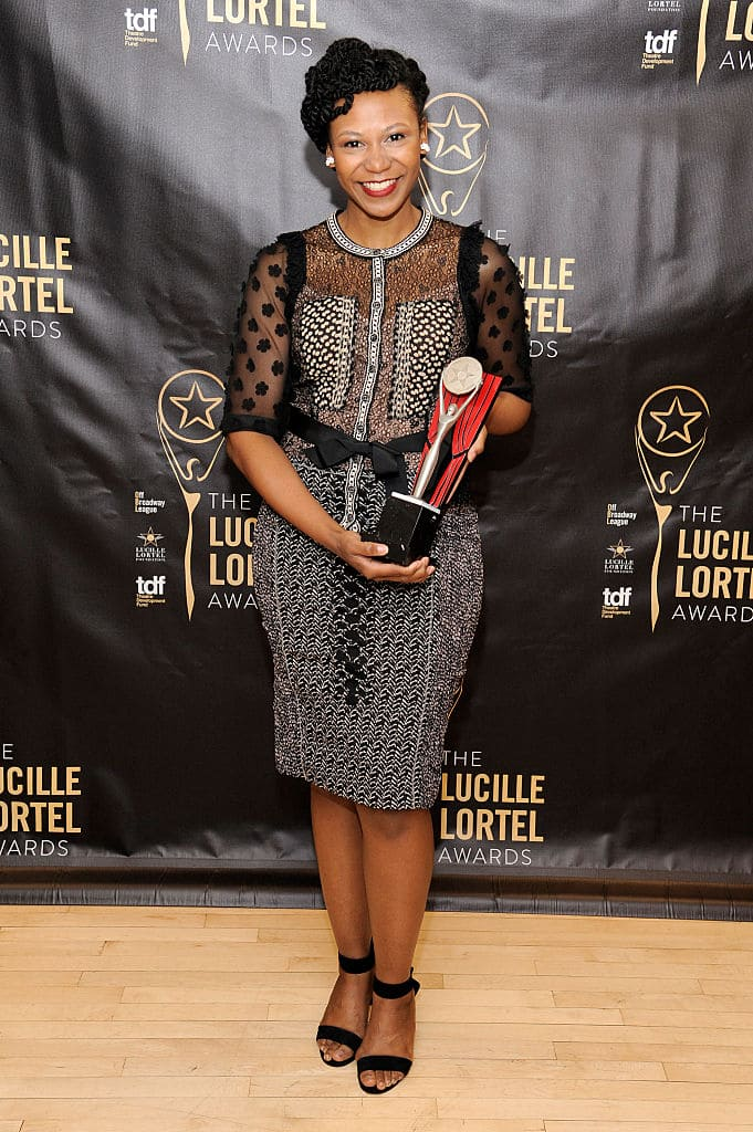 Alana Arenas attends the press room for the 31st Annual Lucille Lortel Awards at NYU Skirball Center on May 1, 2016 in New York City. (Photo by Matthew Eisman/Getty Images for The Lucille Lortel Awards)