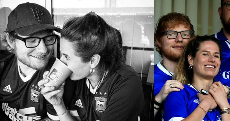 53e7d5ce9 Ed Sheeran may have just revealed that he s secretly married to fiance  Cherry Seaborn