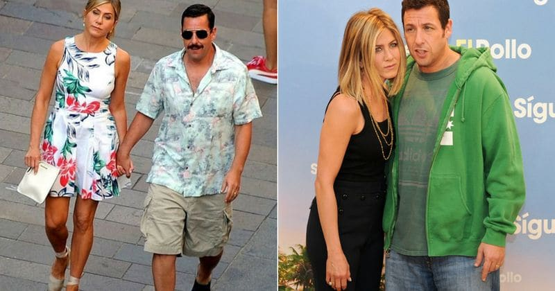 Jennifer Aniston, Adam Sandler spotted holding hands on sets