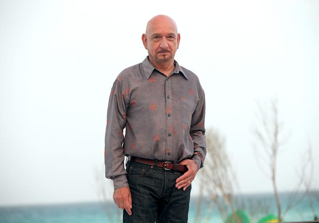 ctor Ben Kingsley attends the 'The Walk' photo call during Summer Of Sony Pictures Entertainment 2015 at The Ritz-Carlton Cancun on June 15, 2015, in Cancun, Mexico. (G