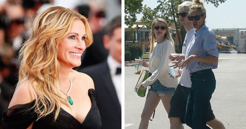 Julia Roberts hangs out with niece Emma Roberts and her beau