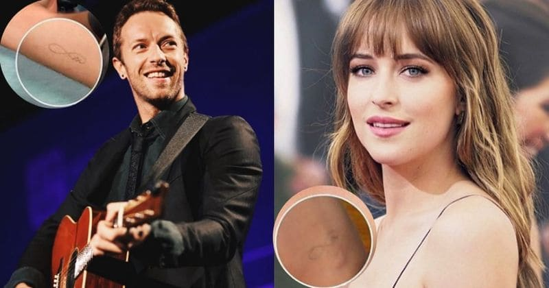 e56ab6782 Chris Martin and Dakota Johnson get inked with infinity tattoo to announce  their love