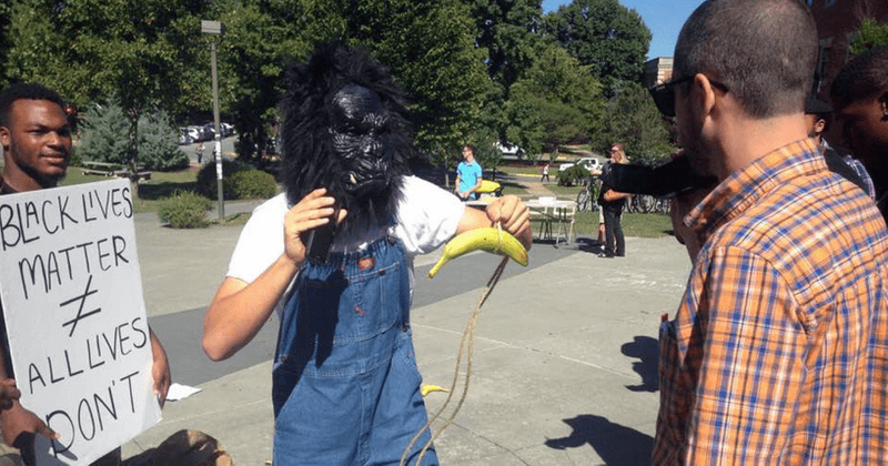 Tennessee student who wore gorilla mask, dangled bananas at Black Lives Matter rally cleared of most charges