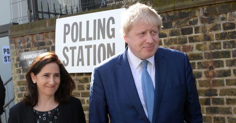 Boris Johnson and wife Marina ...