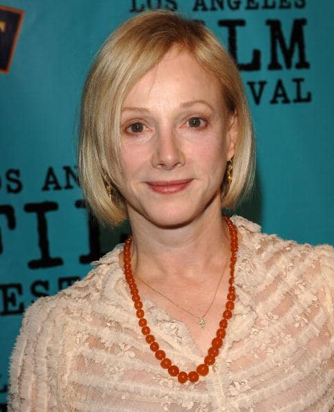 Actress Sondra Locke arrives at the premiere of 'Our Very Own' at the Los Angeles Film Festival at the Director Guild of America on June 22, 2005 in West Hollywood, California. (Photo by Stephen Shugerman/Getty Images)