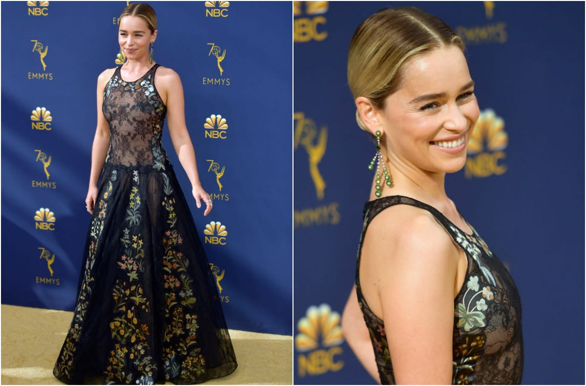 Emilia Clarke attends the 70th Emmy Awards at Microsoft Theater on September 17, 2018 in Los Angeles, California. (Photo by Frazer Harrison/Getty Images)