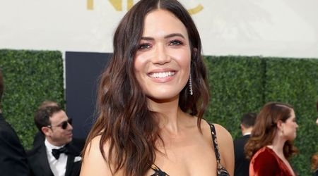 Emmys 2018: Mandy Moore dons a 'custom Rodarte' dress and brings her BFF as plus one