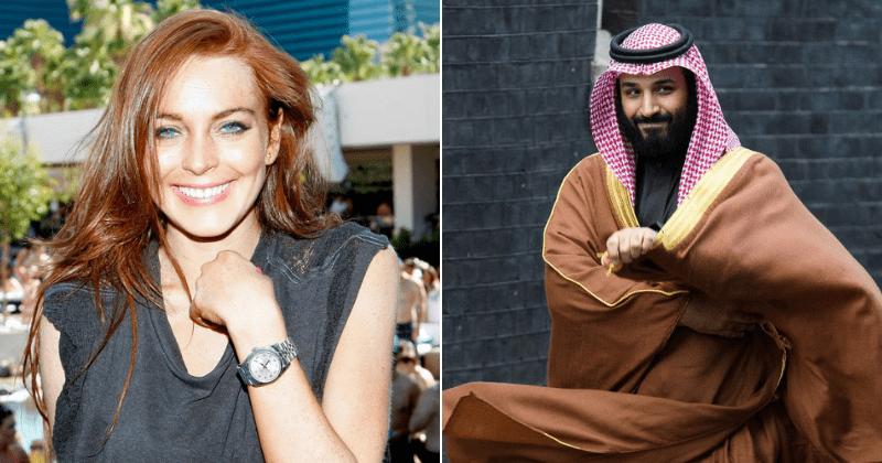 Lindsay Lohan is getting close to Saudi crown prince MBS who has