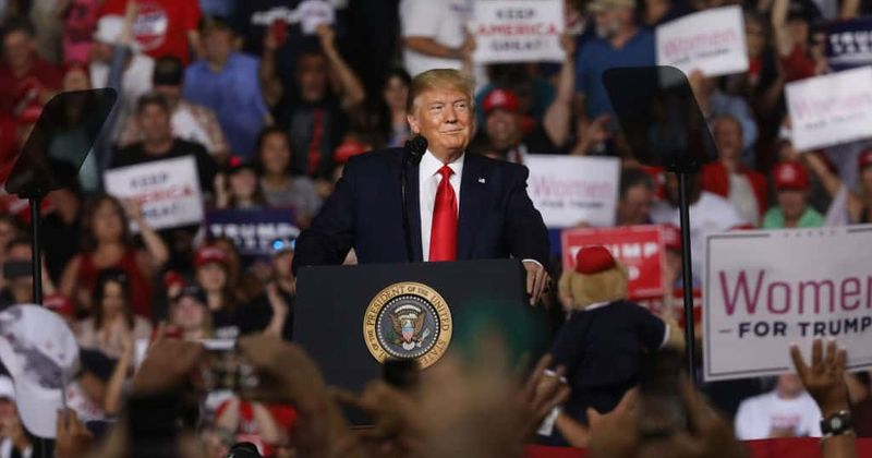Trump fat-shames rally protester, tells him to 'go home, start exercising' prompting laughter from the highly charged crowd