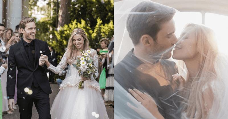 YouTube star PewDiePie marries longtime girlfriend Marzia ...