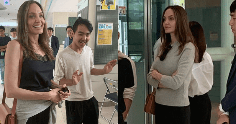 Angelina Jolie gets emotional as she drops off son Maddox at South Korean University: 'I'm trying not to cry'