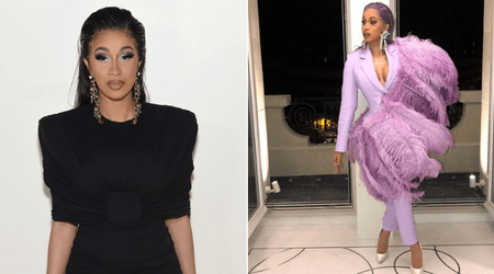 Cardi B uses duct tape to lift her breasts before heading out for Paris Fashion Week