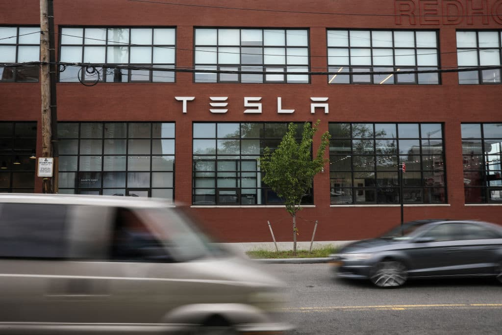 Tesla's shares plummeted around 14 percent on Friday over concerns about the company's future after the announcement of the fraud charges against Musk, which were a fresh blow to the mercurial Silicon Valley entrepreneur and his company (Getty Images)