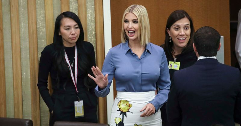 Ivanka Trump suffers awkward wardrobe malfunction at UN meet ...