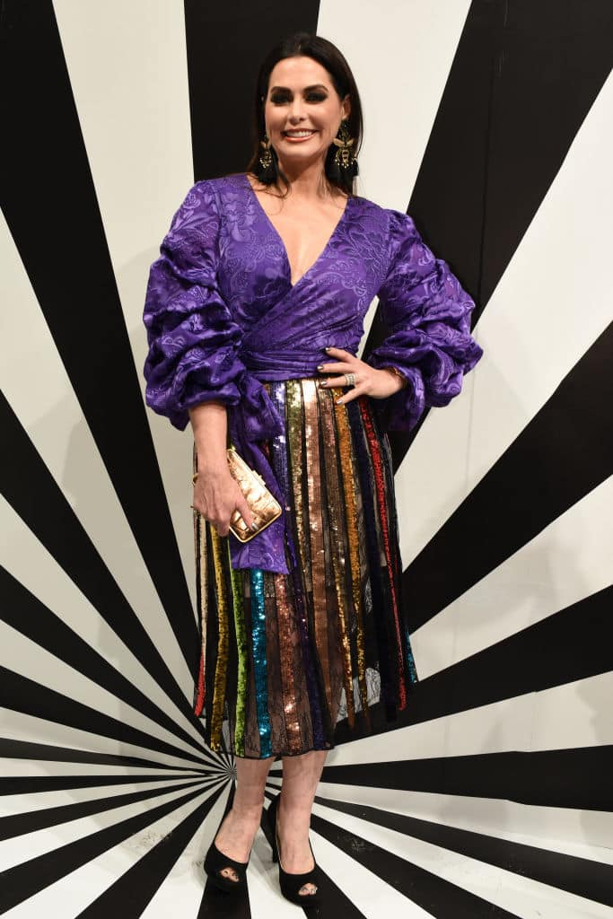 Actress D'Andra Simmons poses at the Alice + Olivia by Stacey Bendet presentation during New York Fashion Week on September 11, 2018, in New York City. (Getty Images