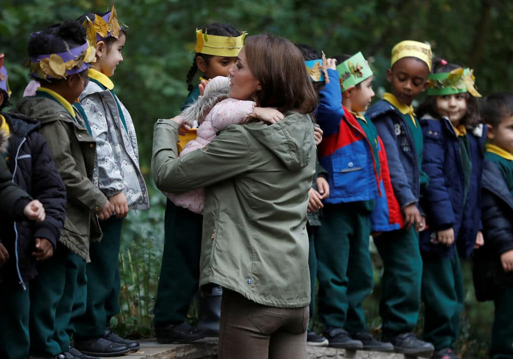 The royal mom took a short two-mile drive from her home at Kensington Palace to a recreation ground in Paddington, London, to spend time with local school children (Getty Images)