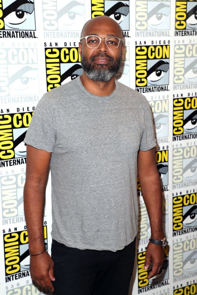 Salim Akil attends the 'Black Lightning' Press Line during Comic-Con International 2018 at Hilton Bayfront on July 21, 2018, in San Diego, California (Getty Images)